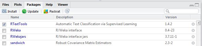 svm tutorial : install rtextools